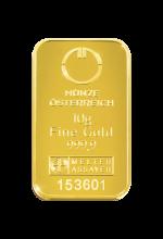 Goldbarren 10 Gramm