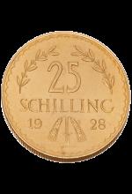 ATS 25,- Gold 1. Republik